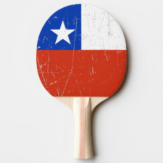 Scuffed and Scratched Chilean Flag Ping Pong Paddle