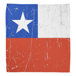 Scuffed and Scratched Chilean Flag Bandana