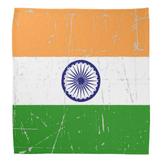 Scuffed and Scratched Indian Flag Bandana