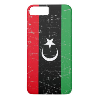 Scuffed and Scratched Libyan Flag iPhone 7 Plus Case