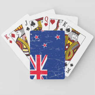 Scuffed and Scratched New Zealand Flag Playing Cards
