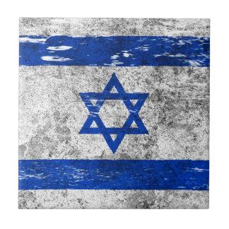 Scuffed and Worn Israeli Flag Tile