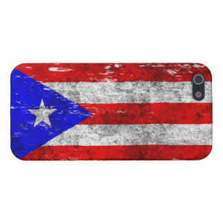 Scuffed and Worn Puerto Rican Flag iPhone 5/5S Case
