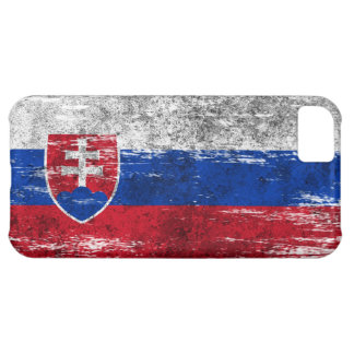 Scuffed and Worn Slovakian Flag iPhone 5C Case