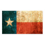 Scuffed and Worn Texas Flag Business Card Templates