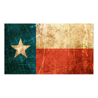 Scuffed and Worn Texas Flag Pack Of Standard Business Cards
