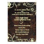 Scuffed Leather Look Wedding Invitation