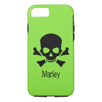 Scull and Crossbones Pirate Name iPhone 8 Case