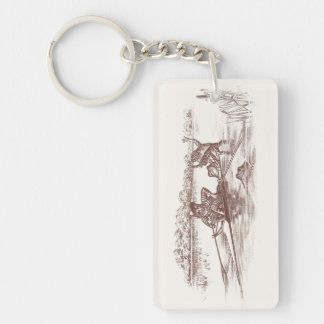 Sculling Frogs Key Ring