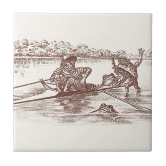 Sculling Frogs Tile