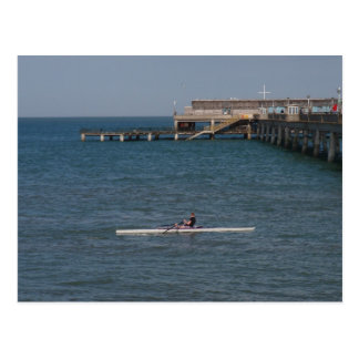 Sculling On The Sea Postcard