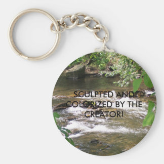 SCULPTED AND COLORIZED BY THE CREATOR BASIC ROUND BUTTON KEY RING