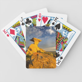 Sculpted Badlands Formation In Short Grass Bicycle Playing Cards