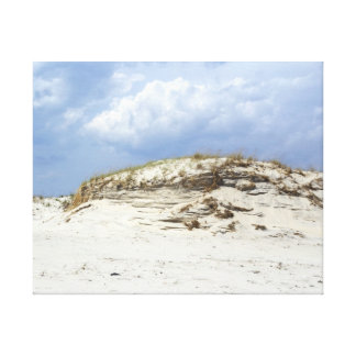 Sculpted Sand Dune - Island Beach State Park - NJ Gallery Wrapped Canvas
