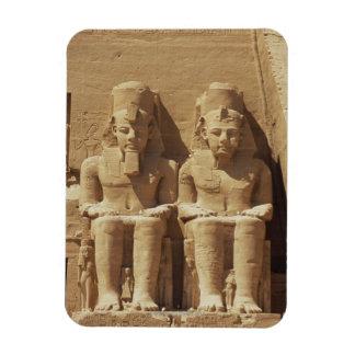 Sculpture at Abu Simbel -Cairo, Egypt Magnet