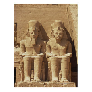 Sculpture at Abu Simbel -Cairo, Egypt Postcard