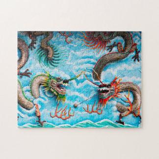 Sculpture Dragons Singapore . Jigsaw Puzzle