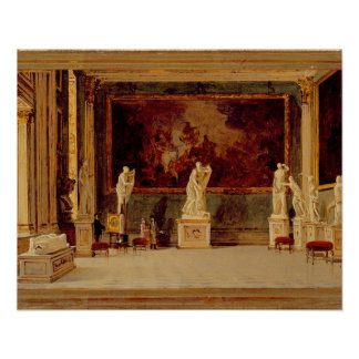 Sculpture Gallery at the Pitti Palace, Florence (o Poster
