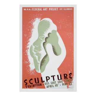 Sculpture In Chicago 1939 WPA Poster