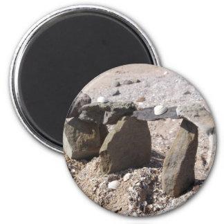 Sculpture on the Beach 6 Cm Round Magnet