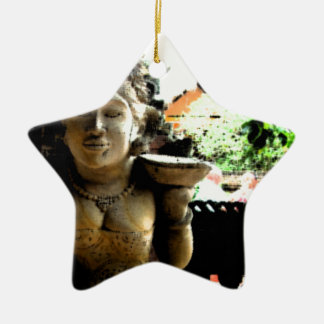 Sculpture Temple in Bali Ceramic Star Decoration