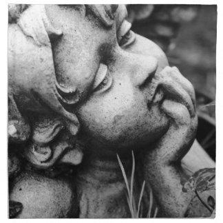 Sculptured angel napkin