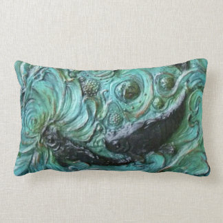Sculptured Koi Fish Pond Pillow by Sharles