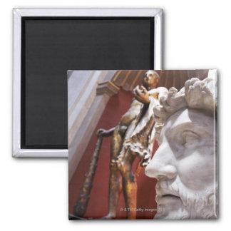 Sculptures inside Vatican Museum, Vatican City, Square Magnet