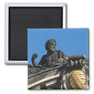 Sculptures on the Royal Art Academy, Dresden Square Magnet
