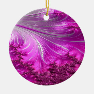 scurfy obsidian fractal 2 ceramic ornament