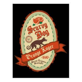 Scurvy Dog Orange Lager Post Card