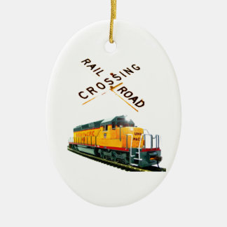 SD-40 Crossing Ceramic Ornament