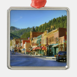 SD, Deadwood, Historic Gold Mining town Metal Ornament