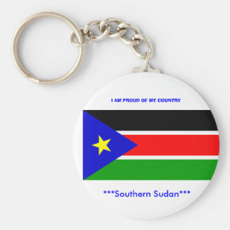 sd}splm, ***Southern Sudan***, I AM PROUD OF MY... Basic Round Button Key Ring