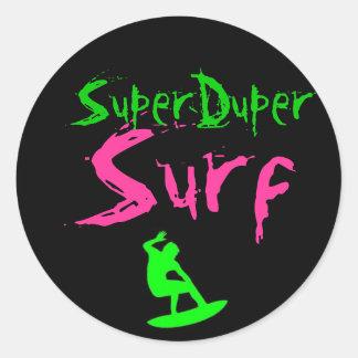 sds, SuperDuper, Surf Classic Round Sticker