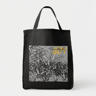 SDV Black & White Flower Vartali Bag