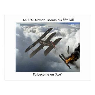 Se5a Kills DFW, An RFC Airman  scores his fifth... Postcard