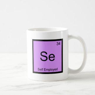 Se - Self Employed Funny Chemistry Element Symbol Basic White Mug