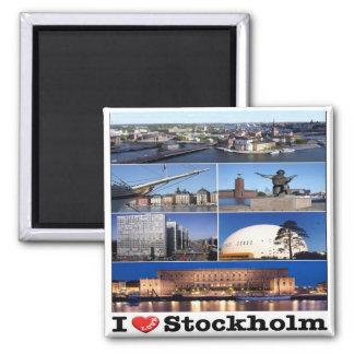 SE - Sweden - Stockholm - I Love - Collage Magnet