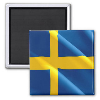 SE - Sweden - Waving Flag - Swedish Magnet