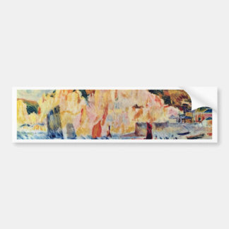 Sea And Cliffs By Pierre-Auguste Renoir Bumper Stickers