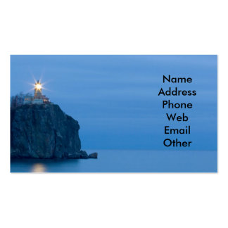 Sea and Lighthouse at Night Business Cards