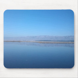 Sea and mountain views mouse pad