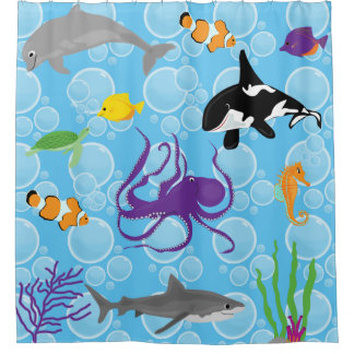Sea and Ocean Themed Shower Curtain