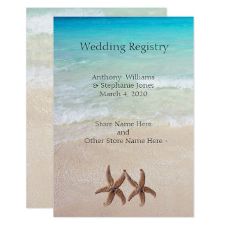 Sea and Sand Wedding Registry Enclosure Card