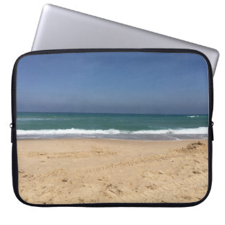 sea and shore view. laptop sleeve