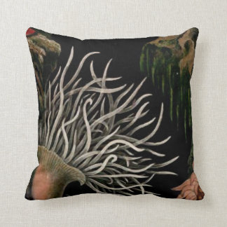 Sea Anemone Nautical Designs Black Pillow Coastal