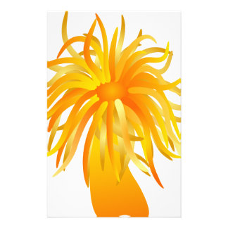 sea anemone stationery paper