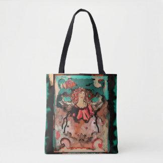 Sea Angel Inspirational Funky Art Deco Tote Bag