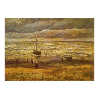 Sea at Scheveningen by Vincent van Gogh Poster